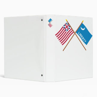 Crossed Grand Union and Fort Moultrie Flags Binder