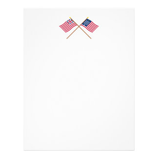 Crossed Grand Union and French Alliance Flags Letterhead