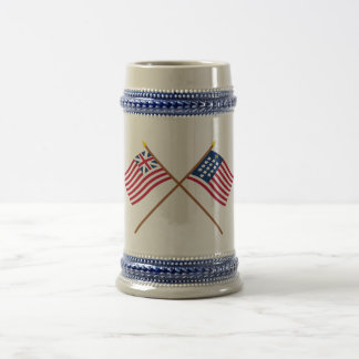 Crossed Grand Union and French Alliance Flags Mug