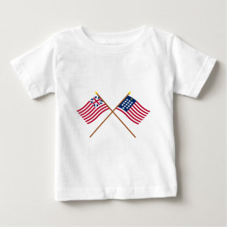 Crossed Grand Union and French Alliance Flags T Shirt