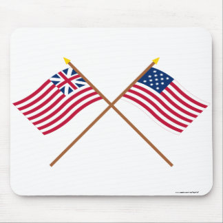 Crossed Grand Union and Frigate Alliance Flags Mouse Pad