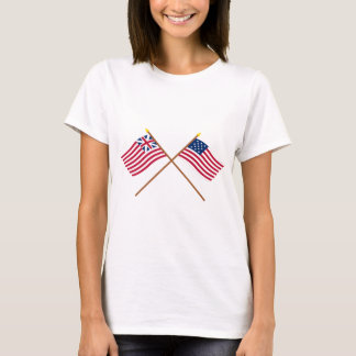 Crossed Grand Union and Frigate Alliance Flags T-Shirt