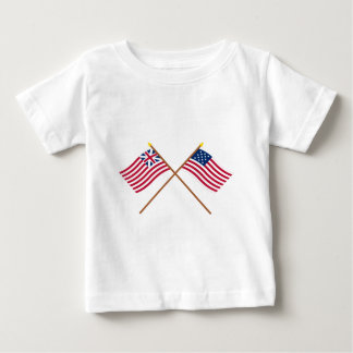 Crossed Grand Union and Frigate Alliance Flags Tshirt