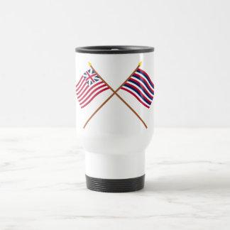 Crossed Grand Union and Ft Mifflin Flags Travel Mug