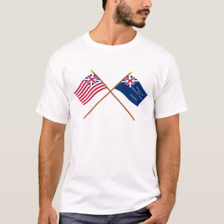 Crossed Grand Union and George Rex Flags T-Shirt