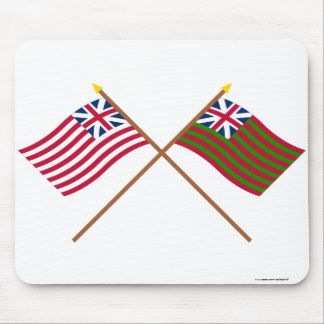 Crossed Grand Union and Grand Union Naval Flags Mouse Pad