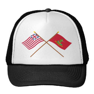 Crossed Grand Union and Hanover Associators Flags Trucker Hat
