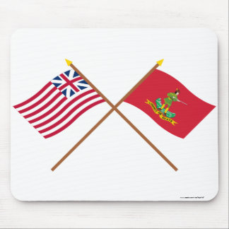 Crossed Grand Union and Hanover Associators Flags Mouse Pad