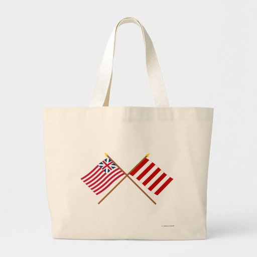 Crossed Grand Union and Liberty Tree Flags Bag