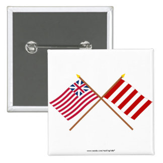 Crossed Grand Union and Liberty Tree Flags Pin