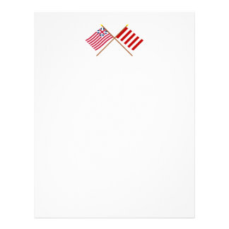 Crossed Grand Union and Liberty Tree Flags Letterhead