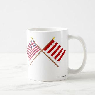 Crossed Grand Union and Liberty Tree Flags Mug