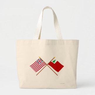 Crossed Grand Union and New England Flags Bag