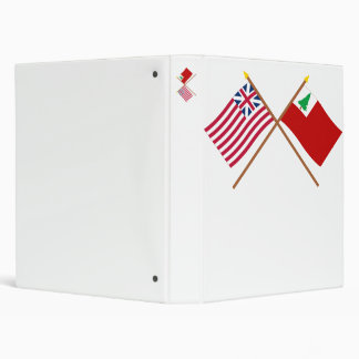 Crossed Grand Union and New England Flags Vinyl Binders