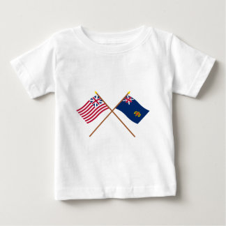 Crossed Grand Union and New Hampshire 2nd Regiment Baby T-Shirt