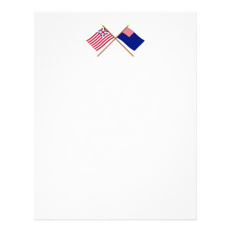 Crossed Grand Union and Pennsylvania Navy Flags Letterhead