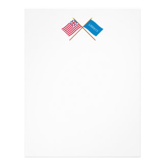 Crossed Grand Union and Schenectady Liberty Flags Letterhead