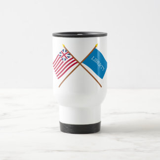 Crossed Grand Union and Schenectady Liberty Flags Mug