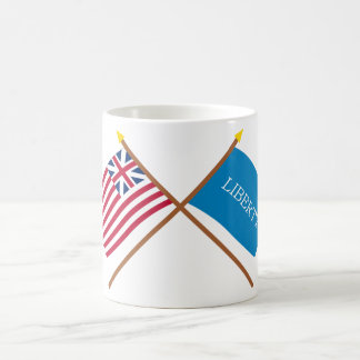 Crossed Grand Union and Schenectady Liberty Flags Coffee Mug