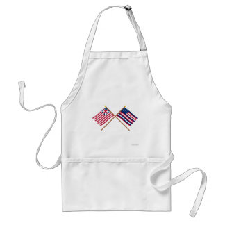 Crossed Grand Union and Serapis Flags Adult Apron