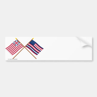 Crossed Grand Union and Serapis Flags Bumper Stickers