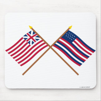 Crossed Grand Union and Serapis Flags Mouse Pad
