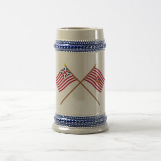 Crossed Grand Union and Sheldon's Horse Flags Beer Stein