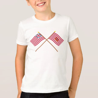 Crossed Grand Union and Sheldon's Horse Flags T-Shirt