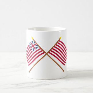 Crossed Grand Union and Sons of Liberty Flags Coffee Mugs