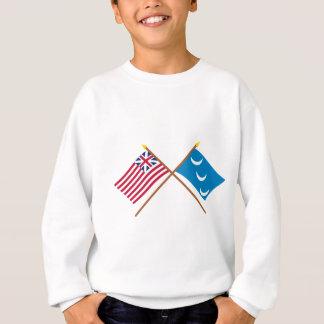 Crossed Grand Union and South Carolina Militia Fla Sweatshirt