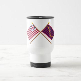 Crossed Grand Union and South Carolina Navy Flags Mugs