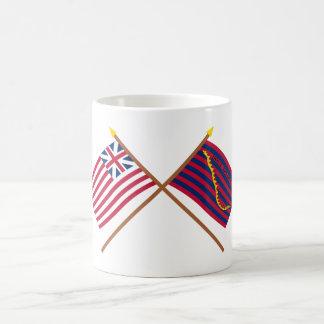 Crossed Grand Union and South Carolina Navy Flags Mug