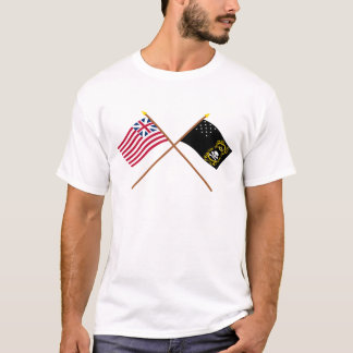 Crossed Grand Union and Veterans Exempt Flags T-Shirt