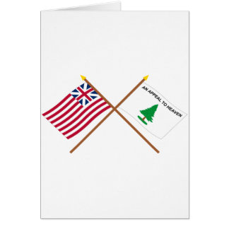 Crossed Grand Union and Washington's Cruisers Flag Greeting Card