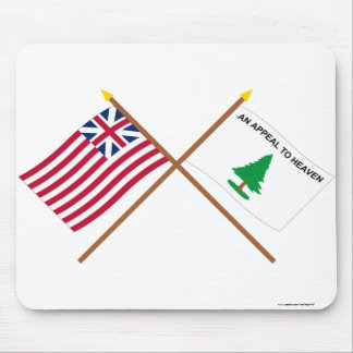 Crossed Grand Union and Washington's Cruisers Flag Mouse Pad