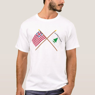 Crossed Grand Union and Washington's Cruisers Flag T-Shirt