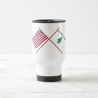 Crossed Grand Union and Washington's Cruisers Flag Travel Mug