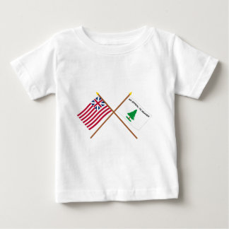 Crossed Grand Union and Washington's Cruisers Flag T-shirts