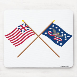 Crossed Grand Union and Whiskey Rebellion Flags Mouse Pads