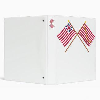 Crossed Grand Union Flag and Navy Jack Binders