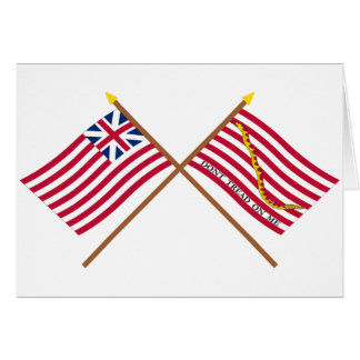 Crossed Grand Union Flag and Navy Jack Card