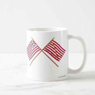 Crossed Grand Union Flag and Navy Jack Coffee Mug
