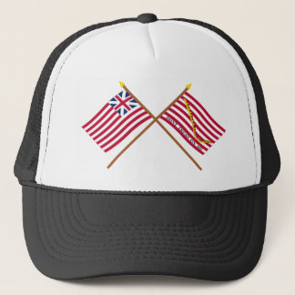 Crossed Grand Union Flag and Navy Jack Trucker Hat