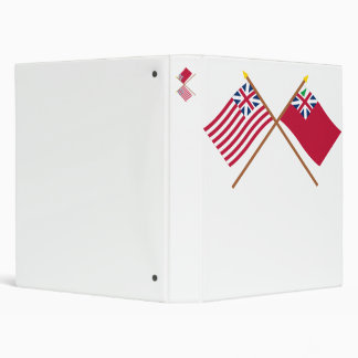 Crossed Grand Union Flag and Pine Tree Red Ensign Binders