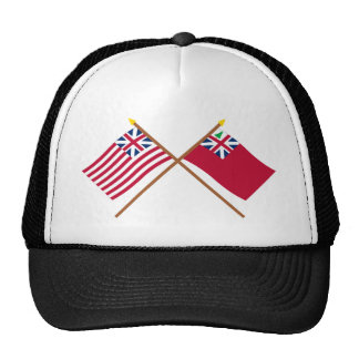 Crossed Grand Union Flag and Pine Tree Red Ensign Mesh Hat