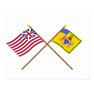 Crossed Grand Union Flag & Phila Light Horse Color Post Card