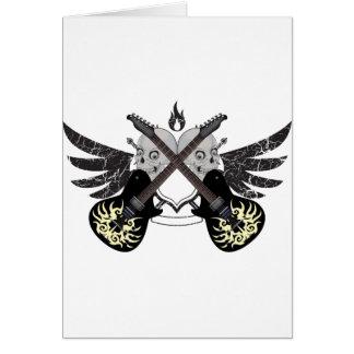 Crossed Guitars and Skulls Greeting Card
