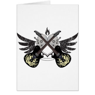 Crossed Guitars and Skulls Greeting Cards