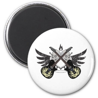 Crossed Guitars and Skulls Magnet