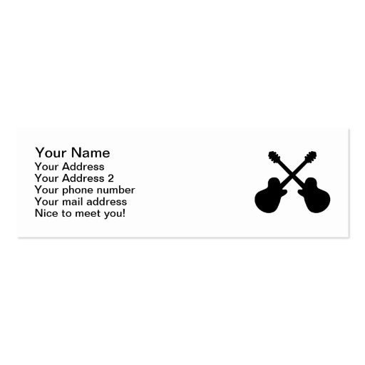 Crossed guitars business card
